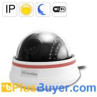 China Nightvision Wireless IP Camera - White (22 IR LEDs, Motion Detection) on sale