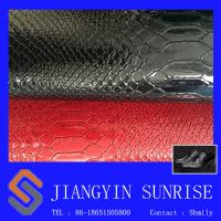 Flame Retardant Crocodile Synthetic Pvc Leather For Lady Handbags Manufactures