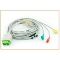 China 11 Pin One Piece ECG Cable , IEC Standard GE 3 Lead Ecg Cable 3.6 Meter Length on sale