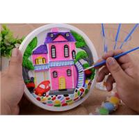 Educational Kids Arts And Crafts Toys Miraculous 3D Gypsum Clock Painting Set Manufactures
