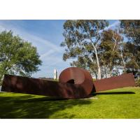 China Twisted Shape Large Decor Corten Steel Metal Garden Art Sculpture on sale
