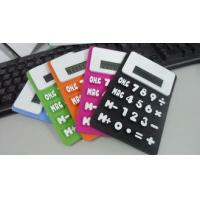 SGS custom  Flexible Electronic Silicone gel  Solar Calculator for promotion gifts Manufactures