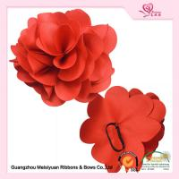10cm Red Fabric Flower Elastic ribbon bows For Wine Bottle fashionable design Manufactures