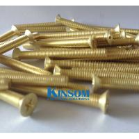 China Countersuck CSK flat head screws machine thread copper golden coating special screw lock system on sale