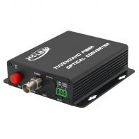 HD 1080p 1 Channel Video Converter HDCVI/TVI/AHD Fiber optic Video Transceiver Wall mounted