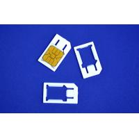 3FF To 2FF Plastic Micro SIM Card Adaptor For Normal Mobile Manufactures