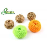 Wire Mesh Brass Scouring Pads Cleaning Ball For Kitchen Houseware Strong Cleaning Manufactures