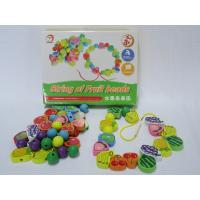 Wholesale Best Preschool Colorful Fruit Shaped Beads Superba Wooden Toys for Children Manufactures