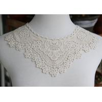 Delicate Chemical Lace Collar Applique With Cotton Embroidered Floral For Neck Manufactures