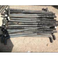 L Shaped Foundation Anchor Bolts , Holding Down Bolts Carbon Steel For Concrete M24 M36 Manufactures