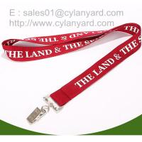 China Cost effective polyester id badge lanyards with bulldog card clip, id card clip lanyards on sale
