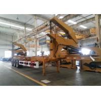 20ft 40ft Truck Mounted Crane Side Loader Sidelifter , Container Self Loading Semi Trailer Manufactures