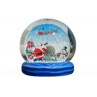 China 0.55mm PVC Inflatable Advertising Signs For Yard / Blow Up Snow Globe on sale