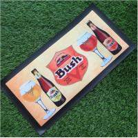 Custom Make Non-woven Fabrics Beer Mat / Bar Spill Mat With Logo Heat Transfer Printing Manufactures