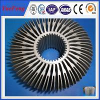 Hot! supply led aluminum circular extrusion heat sink, OEM led aluminum profile factory Manufactures