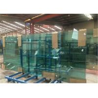 China 8mm/10mm/12mm Thick Tempered Safety Glass Door with Grooves / Holes on sale