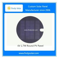 China 6V 1.7W Round PV Panel on sale