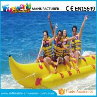 Banana Boat Inflatable Water Toys / Water Towable Tube with Customized Size Manufactures