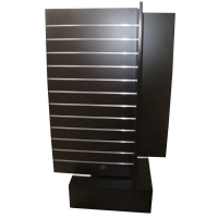 4 Way MDF Rotating Wooden Retail Display Stands With 4 Slat Spinner Panels Manufactures