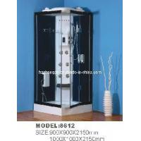 Square Shower Room with Low Tray and Grey Glass for Body Manufactures