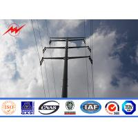 China 11kv Transmission / Distribution Galvanized Electrical Steel Power Pole 5m Height on sale