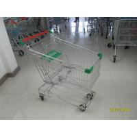 Asian Type125L Wire Shopping Trolley With 4 inch flat TPE casters Manufactures