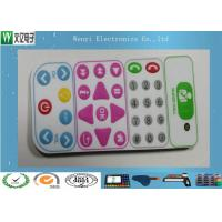 Control Keypad Flat Membrane Switch Keypad No Embossing With 0.20mm PET Overlay Manufactures