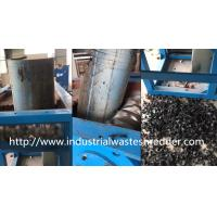 Scrap Waste Plastic Pipe Shredder , Hollow Container Pvc Pipe Shredder Manufactures