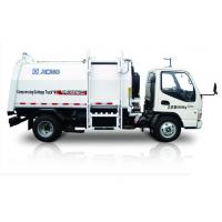 White garbage truck waste management / side loader waste collection trucks hydraulic system Manufactures