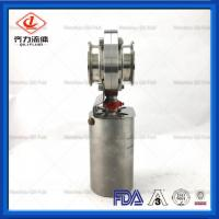 Chemical Industries  Sanitary Butterfly Valve   Clamped End Easy To Install Manufactures