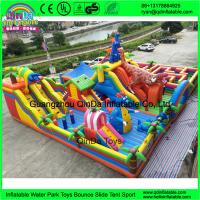Hot Sale Cartoon inflatable big fun city for sale, commercial Mega inflatable playground, inflatable amusement park Manufactures
