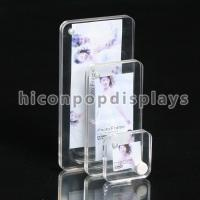 Household Clear Acrylic Photo Stands / Tabletop Photo Display Stands Manufactures