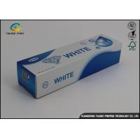 Custom Toothpaste Packing Paper Box Glossy Lamination 0.2 - 0.6mm Thickness Manufactures