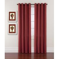 Quality Unique Jacquard Window Shower Curtain For Living Room , Red And Yellow for sale