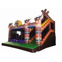 China Inflatable Indian type jump house PVC inflatable bouncer colourful inflatable combo house for kids under 15 years old on sale