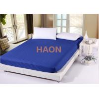 Dense Twin Full Queen King Size Bed Sheets Cover , Hotel White Bed Linen Manufactures