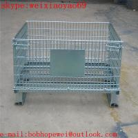 China metal steel storage wire mesh cage/wire partitions & security cages/metal storage containers/storage bins factory price on sale
