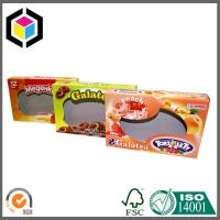 Biscuits Cardboard Packaging Box with Clear Window; Open Ends Cardboard Box Manufactures