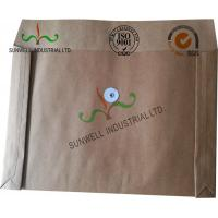 China Kraft Paper Custom Printed Business Envelopes With String Closure Accordion Shape on sale
