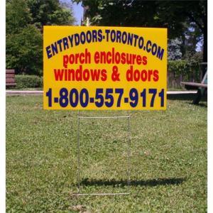 Corrugated plastic sign