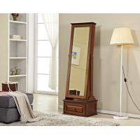 Stand Up Living Room Wooden Dressing Mirror With Sliding Drawer Manufactures