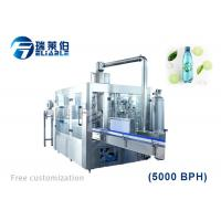 Rotary PET Bottle Carbonated Soda Water Bottling Machine For Small Business Manufactures