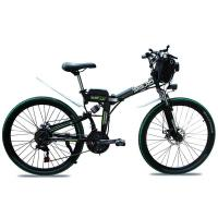 Non Slip 26 Inch Electric Bicycle , 21 Speed Fold Up Electric Bike 48v Manufactures