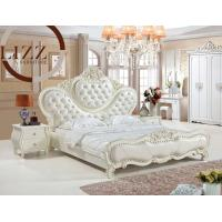 Quality European Home Queen Size Leather Bed A808 for sale