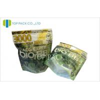 Laminated Resealable Stand Up Pouch Packaging With Zipper For Tabacco Manufactures