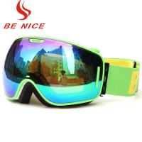 Detachable Lightweight Reflective Snowboard Goggles With 100% UV Protection Manufactures