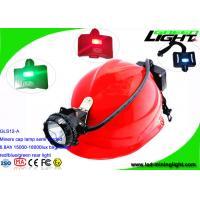 Semi Corded Coal Miner Hard Hat Light 6.8Ah Li - Ion Battery With 2 SMD Back Up Lights Manufactures