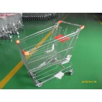 Retail Store Steel Wheeled Shopping Cart 180 L Basket Bottom Rack