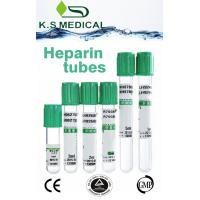 Green PET Blood Collection Heparin Tube With Sodium Heparin Or Lithium Heparin Manufactures
