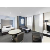Solid Wood Style Hotel Apartment Furniture Sets With Ashtree Chair Manufactures